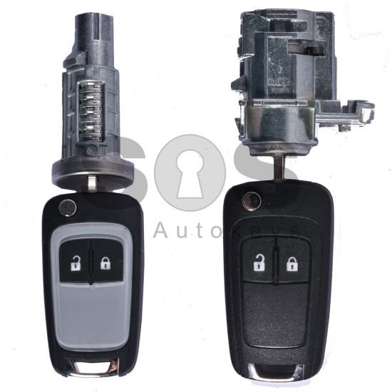 Оригинален комплект за Opel Astra J / Insignia Честота 433 MHz Транспондер HITAG 2 Номер B01T3BA