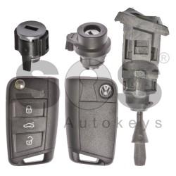 Оригинален комплект за VW GOLF 7 / TOURAN 433 MHz MEGAMOS 88