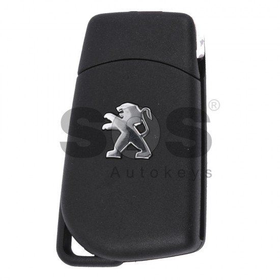 Сгъваем ключ за Peugeot 108 с 2 бутона 433 MHz