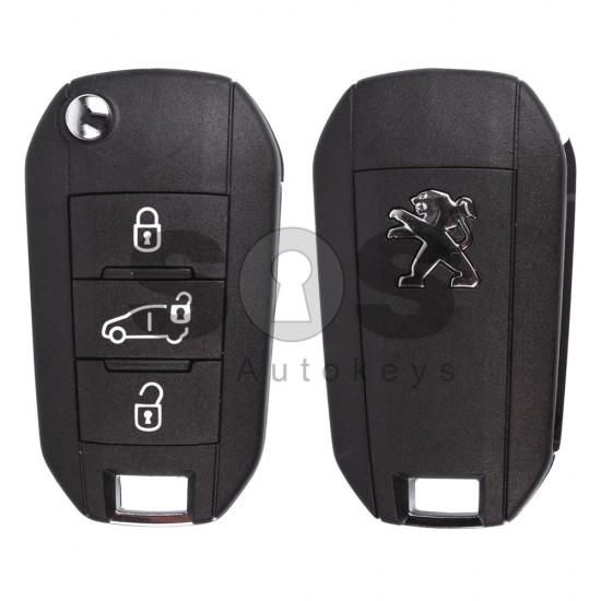 Сгъваем ключ за коли Peugeot с 3 бутона 433 MHz
