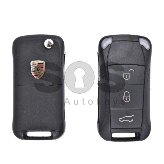 Кутийка за ключ (сгъваем) за Porsche с 3 бутона - HU66