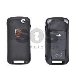 Кутийка за ключ (сгъваем) за Porsche с 2 бутона - HU66