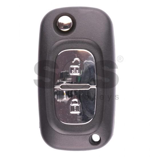 Сгъваем ключ за коли Renault Fluence/Clio 3 с 2 бутона 433MHz