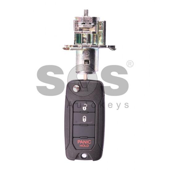 Kомплект за Jeep Честота 434 MHz Транспондер Megamos 88 Бутони 2+1