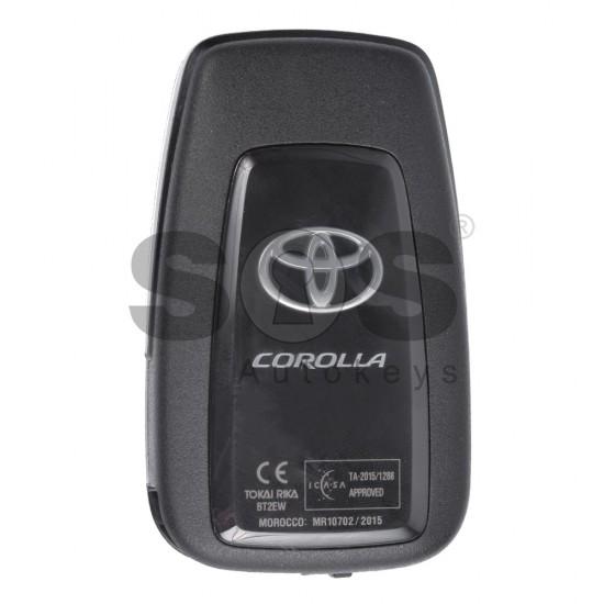 Оригинален смарт ключ за Toyota Corolla с 3 бутона 434 MHz
