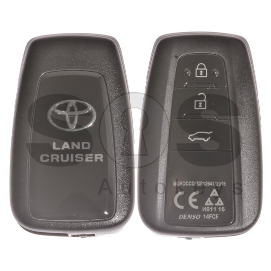 Оригинален смарт ключ за Toyota Land Cruiser 433MHz с 3 бутона Texas Crypto/128-Bit AES