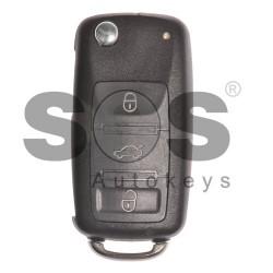 Оригинален флип ключ за коли VW Touareg/Phaeton с 3 бутона 433 MHz