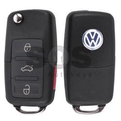 Сгъваем ключ за VW с 3+1 бутона 315MHz ID48