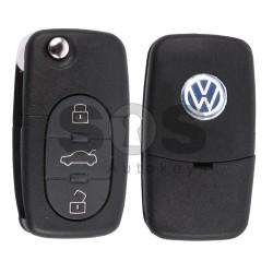 Сгъваем ключ за VW Golf/ Polo/ Passat/ Bora с 3 бутона Честота - 433 MHz - само дистанционно