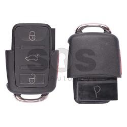 Сгъваем ключ за VW Golf IV / Passat с 3 бутона Честота - 433 MHz - само дистанционно