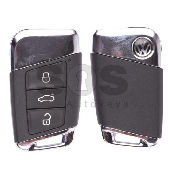 Оригиналнен смарт ключ за VW Passat B8  с 3 бутона 434 MHz Keyless Go