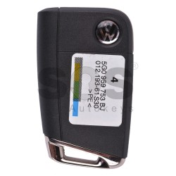 Сгъваем ключ за VW с 3 бутона 434 MHz