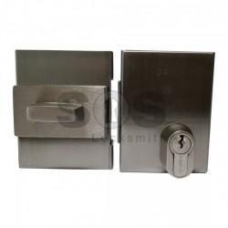 Патронна брава с врътка за стъклена врата GEVY