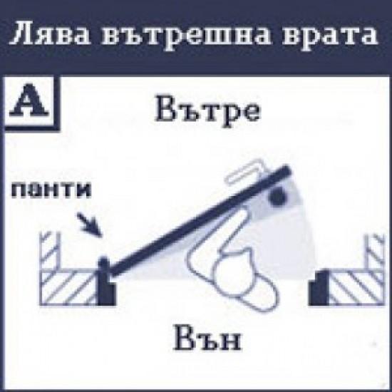 Допълнителна брава за врата GERDA TYTAN ZX LKP с врътка и удължени езици