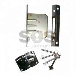 Допълнителна касова брава за врата METAL