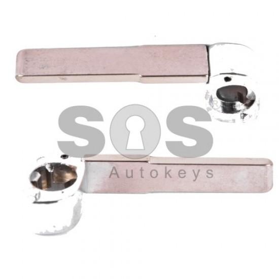 Кутийка за ключ (сгъваем) за Fiat с 3 бутона - SIP22 - с държач за батерия