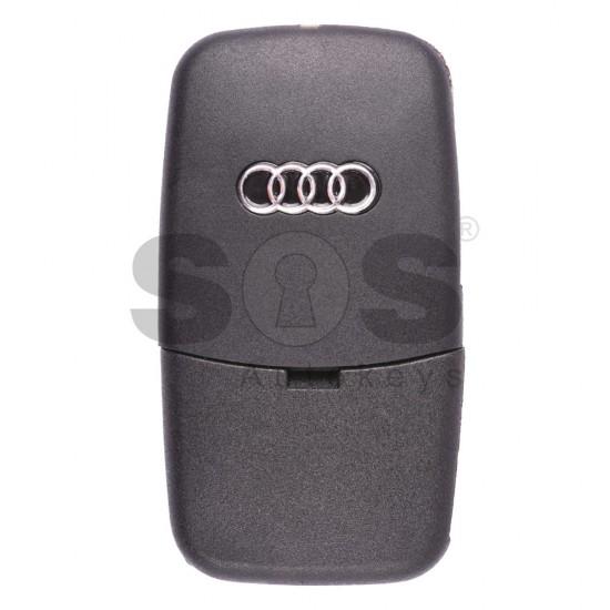 Сгъваем ключ за коли Audi A3 с 2 бутона - 433 MHz - само дистанционно