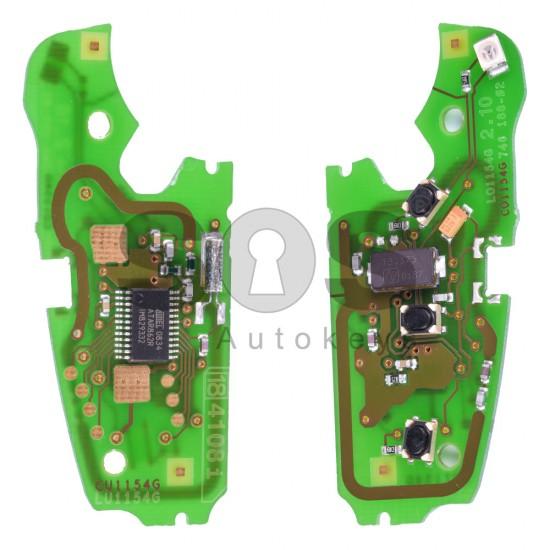 Сгъваем ключ за коли Audi A4 с 3 бутона - 433MHz