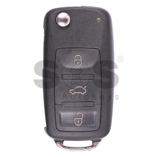 Сгъваем ключ за коли Audi A8 с 3 бутона - 433 MHz