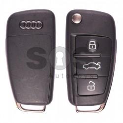 Сгъваем ключ за коли Audi A6/Q7 с 3 бутона 433 MHz