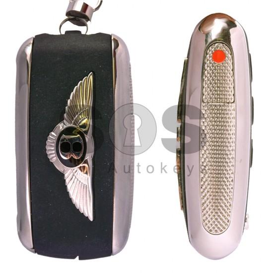 Оригинален сгъваем ключ за коли Bentley с 3 бутона - 315 MHz Keyless Go