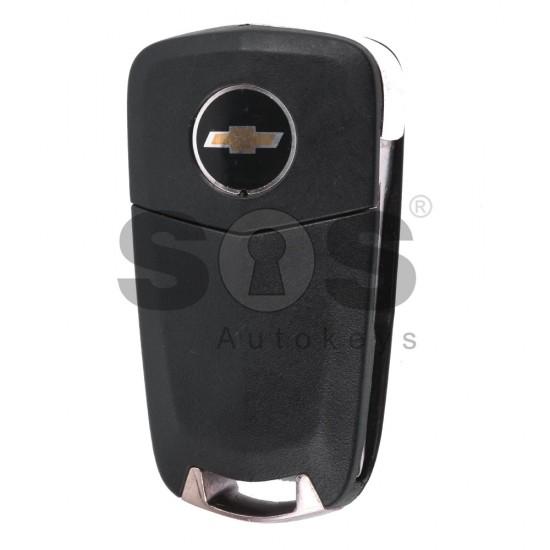 Сгъваем ключ за коли Chevrolet Epica/Captiva с 3 бутона - 433 MHz