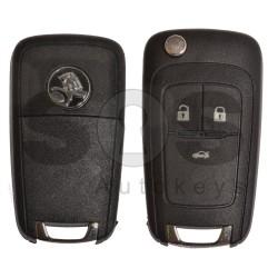 Оригинален сгъваем ключ коли за Holden с 3 бутона - 315 MHz HITAG2 / ID 46