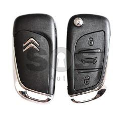 Сгъваем ключ за коли Citroen C4 с 3 бутона 434 MHz