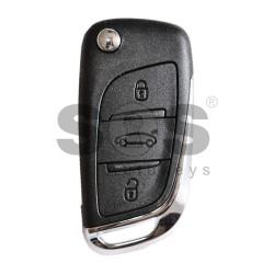 Оригинален сгъваем ключ за коли Citroen C4 с 3 бутона 434 MHz