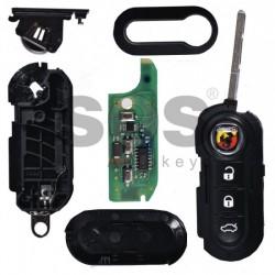 Оригинален сгъваем ключ за коли Abarth 500 с 3 бутона - 433 MHz (заключен транспондер)