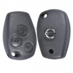 Оригинален сгъваем ключ за коли Nissan с 3 бутона 434 MHz Транспондер - HITAG2