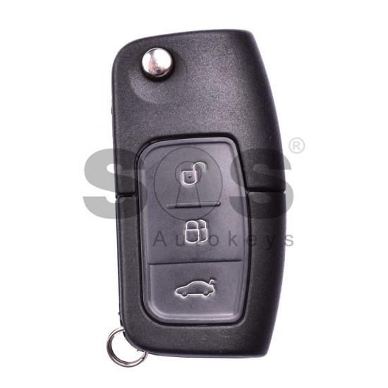 Сгъваем ключ за коли Ford с 3 бутона - 434 Mhz - HU101