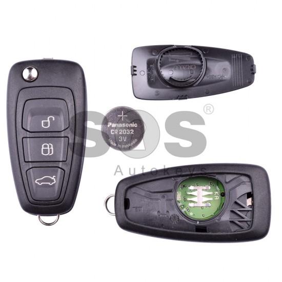 Сгъваем ключ за коли Ford Mondeo с 3 бутона - 433 MHz