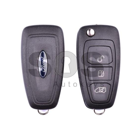 Сгъваем ключ за коли Ford Transit 2015+ с 3 бутона - 433 MHz