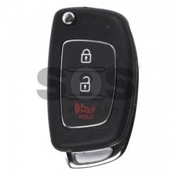 Сгъваем ключ за коли Hyundai с 2+1 бутона - 433 MHz