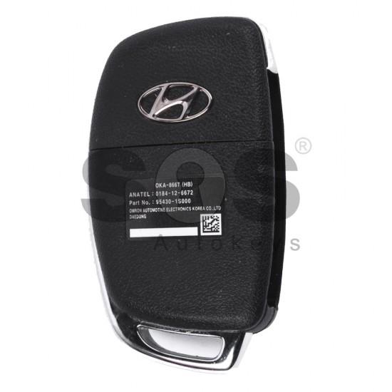 Оригинален сгъваем ключ за коли Hyundai с 2+1 бутона - 433 MHz