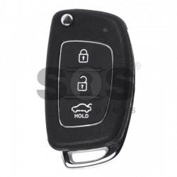 Оригинален сгъваем ключ за коли Hyundai с 3 бутона - 433 MHz - PCF 7936