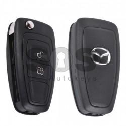 Оригинален сгъваем ключ за коли Mazda 3 с 2 бутона 433 MHz