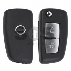 Оригинален сгъваем ключ за коли Nissan с 2 бутона 433 MHz Транспондер - PCF 7961M
