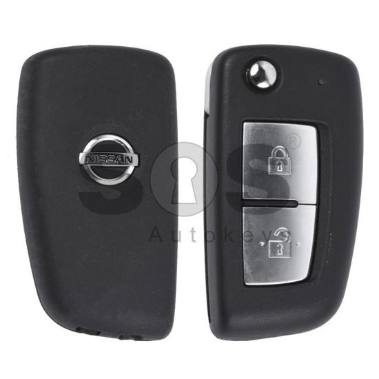 Сгъваем ключ за коли Nissan с 2 бутона 433 MHz Транспондер - PCF 7961M