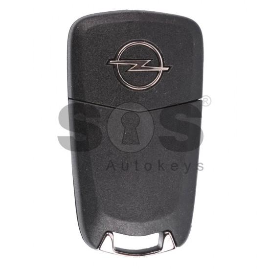 Оригинален сгъваем ключ за коли Opel Corsa C с 2 бутона 433MHz