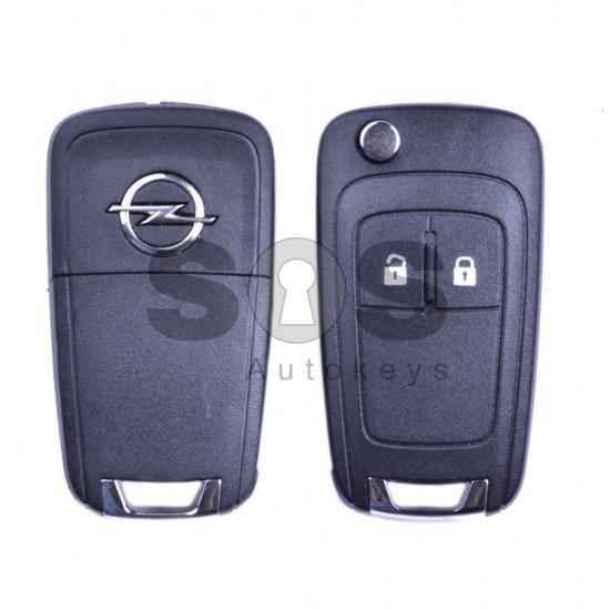 Оригинален сгъваем ключ за коли Opel Corsa D/E/Meriva с 2 бутона 434 MHz