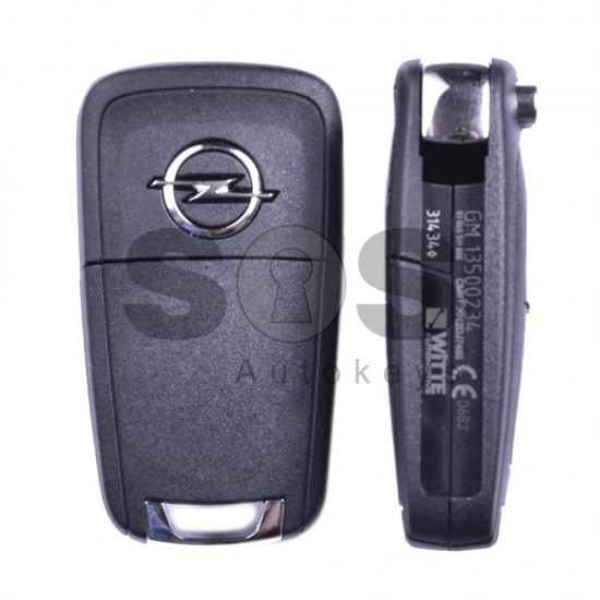 Оригинален сгъваем ключ за коли Opel Astra J с 3 бутона 433 MHz