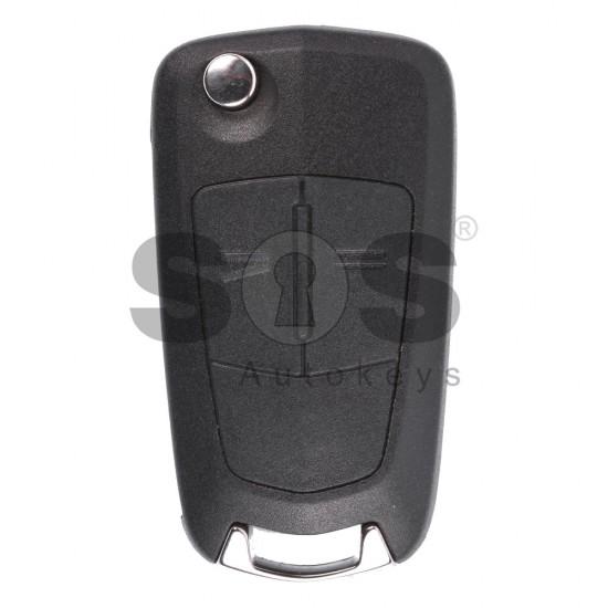 Сгъваем ключ за Opel Vectra C Facelift с 2 бутона 433 MHz