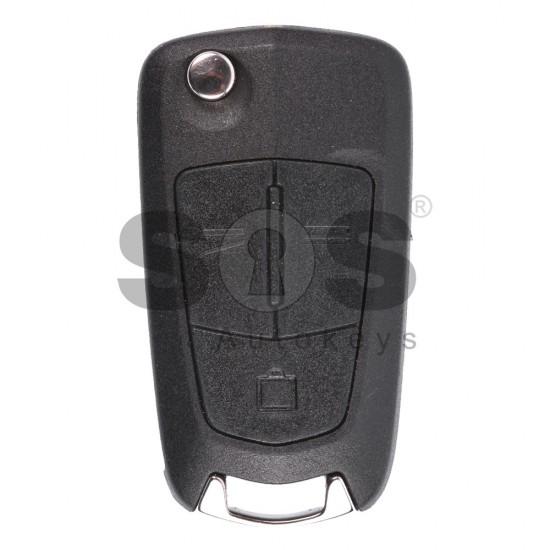Оригинален сгъваем ключ за коли Opel Vectra C с 3 бутона 433MHz