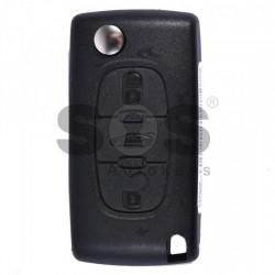 Оригинален сгъваем ключ за коли Peugeot 307/308/408 с 3 бутона - 433 MHz