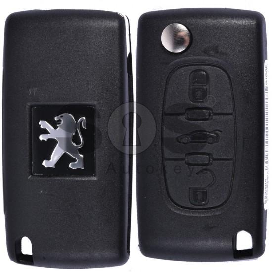 Сгъваем ключ за коли Peugeot 307/308/408 с 3 бутона - 433 MHz