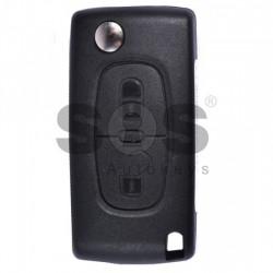 Оригинален сгъваем ключ за коли Peugeot 307 с 2 бутона - 433 MHz