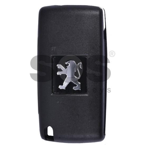 Сгъваем ключ за коли Peugeot 307 с 2 бутона - 433 MHz