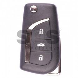 Оригинален сгъваем ключ за коли Toyota Aygo/Avensis с 3 бутона 434 MHz